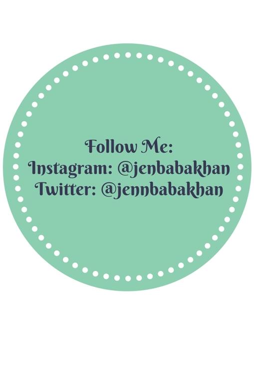 Follow Me-Instagram- @jenbabakhanTwitter- @jennbabakhan